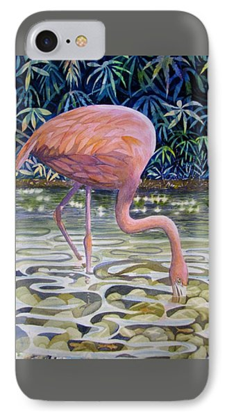 Flamingo Fishing IPhone Case
