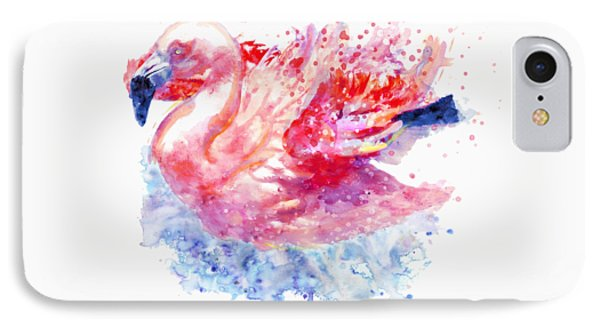 Flamingo On The Water IPhone Case