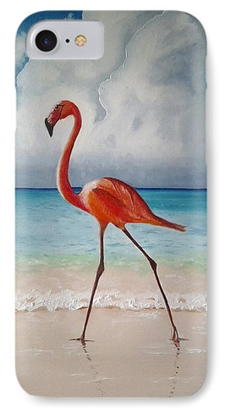 Flamingo Walk IPhone Case