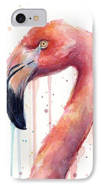Flamingo Watercolor Illustration IPhone 7 Case