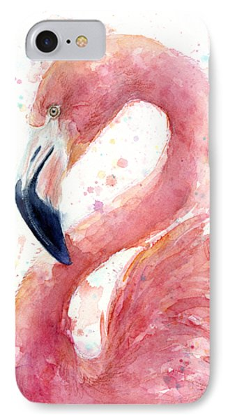 Flamingo Watercolor Painting IPhone 7 Case