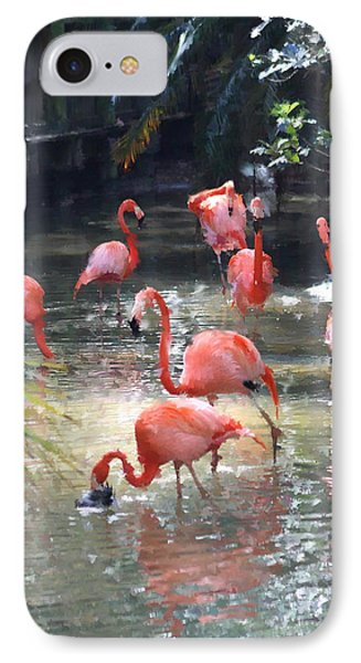 Flamingos IPhone Case by Diane Merkle