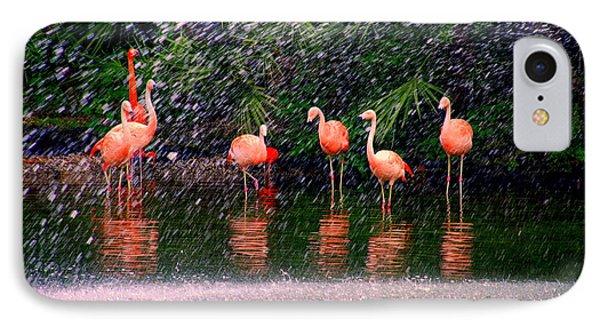 Flamingos II Phone Case by Susanne Van Hulst