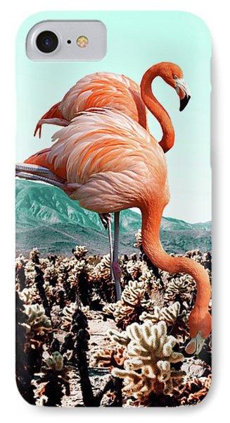 Flamingos In The Desert IPhone Case