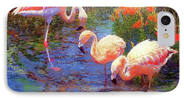Flamingos, Tangerine Dream IPhone Case