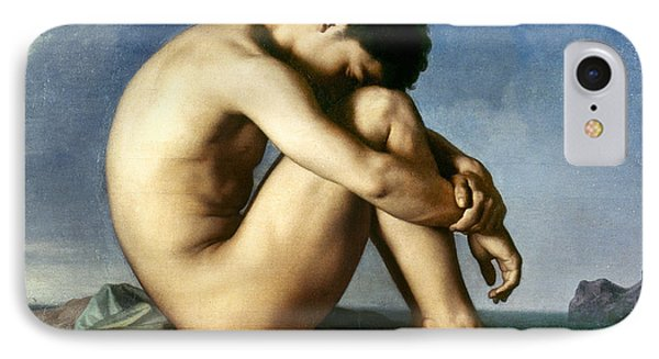 Flandrin: Nude Youth, 1837 IPhone Case by Granger