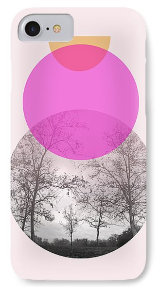 Flare In Pink And Yellow- Art By Linda Woods IPhone Case by Linda Woods