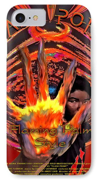 IPhone Case featuring the digital art Flash Point by Iowan Stone-Flowers