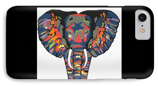 Flashy Elephant IPhone Case by Kathleen Sartoris