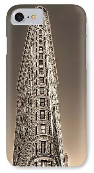 Flat Iron Building New York City IPhone Case by Dave Mills