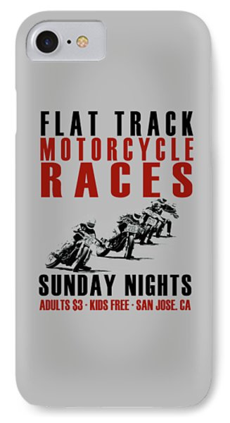 Flat Track Motorcycle Races IPhone Case by Mark Rogan