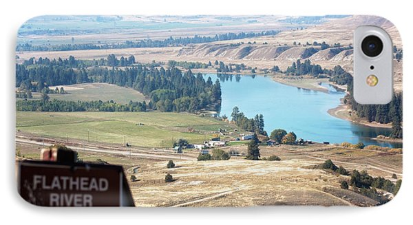 Flathead River 4 IPhone Case by Janie Johnson