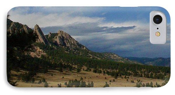 Flatirons, Boulder, Colorado IPhone Case