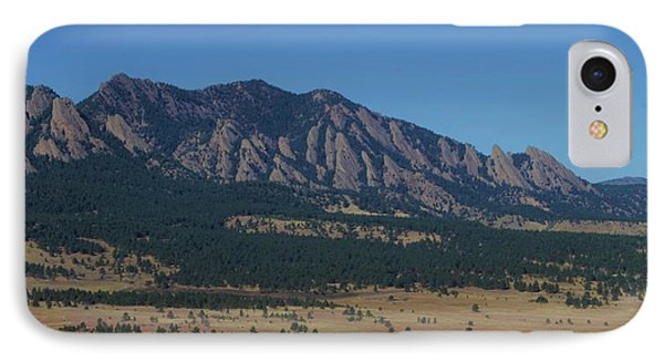Flatirons Of Boulder IPhone Case by Christopher Kirby