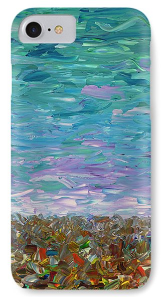 Flatland - Cloudy Day IPhone Case by James W Johnson