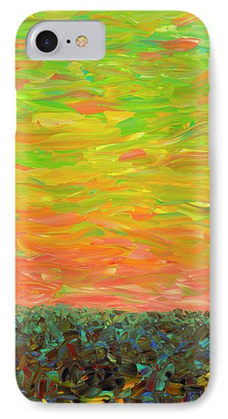 Flatland - Sunset Looking West IPhone Case by James W Johnson
