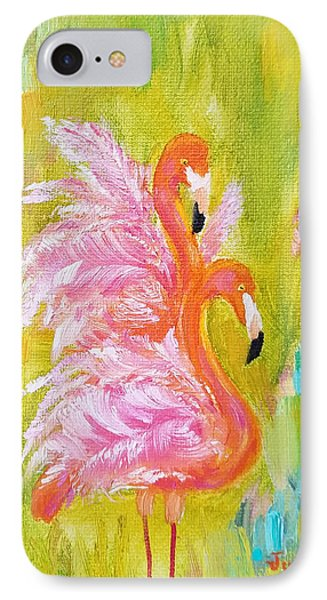 IPhone Case featuring the painting Flaunting Feathers by Judith Rhue