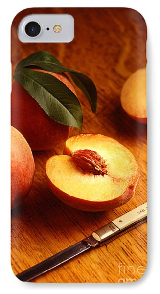 Flavorcrest Peaches Phone Case by Photo Researchers