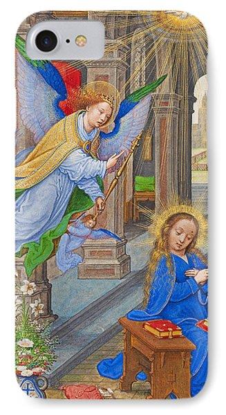 Flemish Annunciation IPhone Case by Munir Alawi