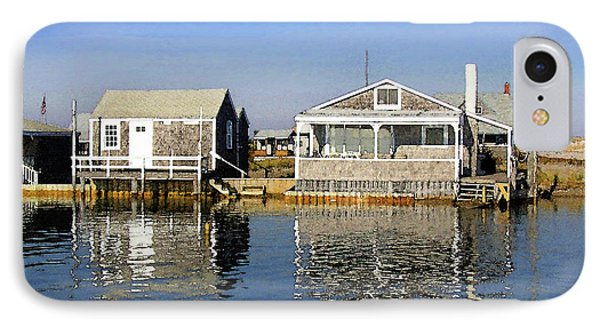 IPhone Case featuring the photograph Fletchers Camp And The Little House Sandy Neck by Charles Harden