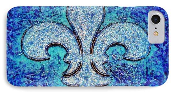 Fleur De Lis Blue Ice IPhone Case
