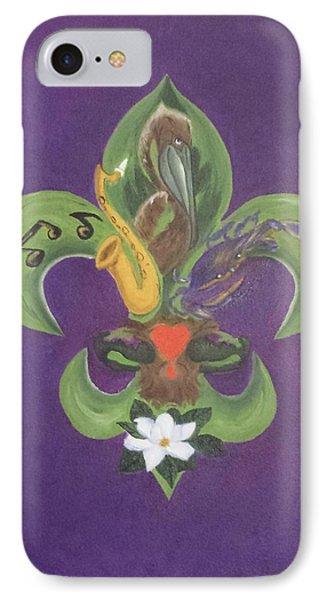 Fleur De Lis Purple Green And Gold Painting By Judy Jones