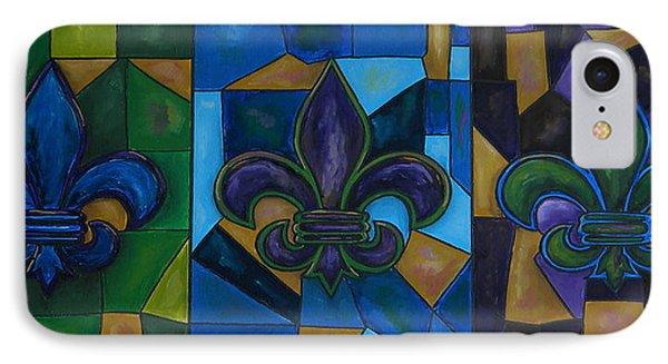 Fleur De Lis Trinity Phone Case by Patti Schermerhorn
