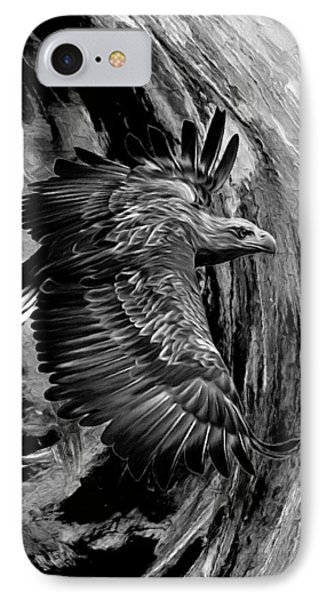 Flight For Freedom Black And White IPhone Case by Georgiana Romanovna