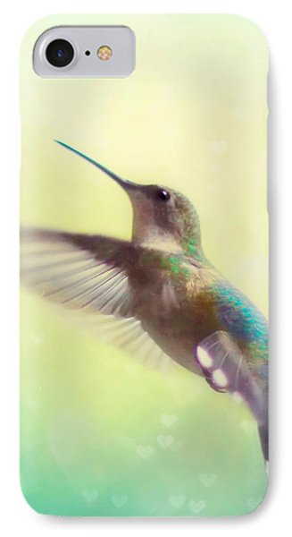 Flight Of Fancy - Square Version IPhone 7 Case by Amy Tyler