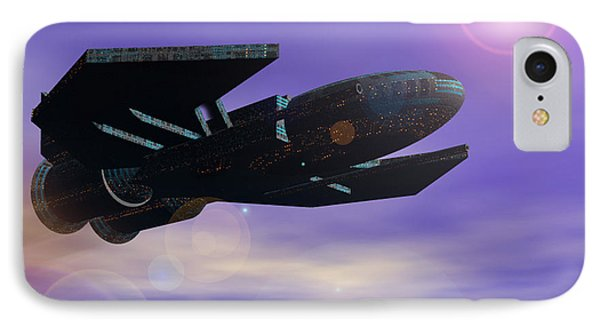 IPhone Case featuring the digital art Flight Of The 501st Phoenix by Curtiss Shaffer