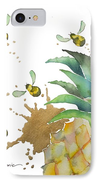 Flight Of The Bumblebee No19 IPhone Case by Roleen Senic