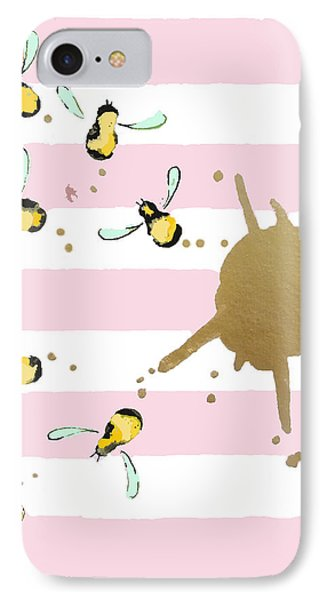 Flight Of The Bumblebeee No 21 IPhone Case by Roleen Senic