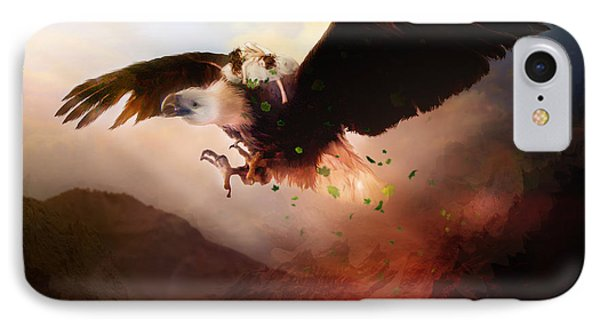 Flight Of The Eagle IPhone Case by Mary Hood