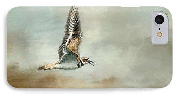 Flight Of The Killdeer IPhone Case by Jai Johnson