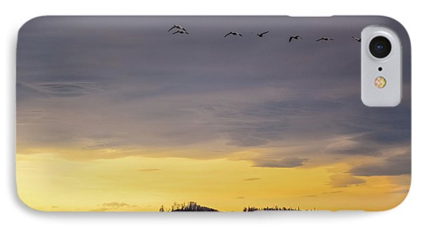 Flight Over Goose Bay IPhone Case by Ron Day