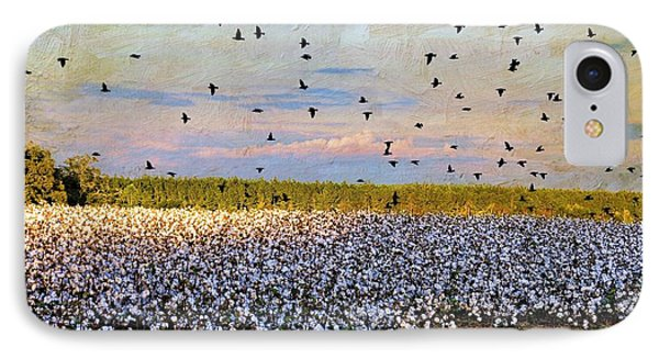 IPhone Case featuring the photograph Flight Over The Cotton by Jan Amiss Photography