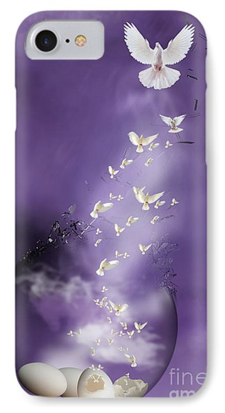 IPhone Case featuring the mixed media Flight To Freedom by Jim  Hatch