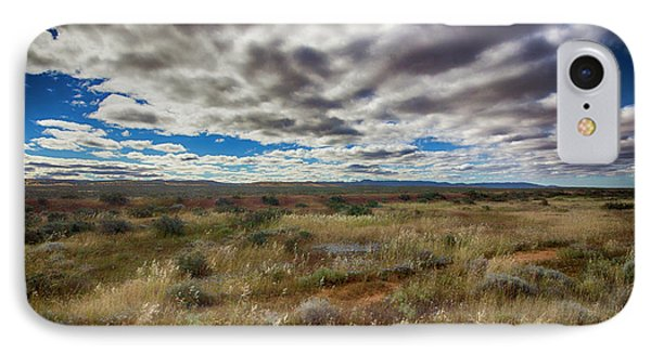 IPhone Case featuring the photograph Flinders Ranges Fields  by Douglas Barnard