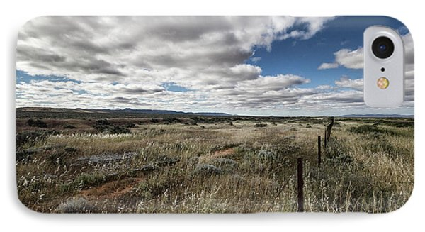 IPhone Case featuring the photograph Flinders Ranges Fields V2 by Douglas Barnard
