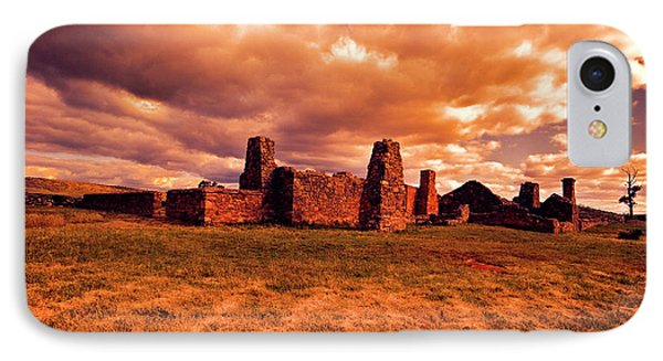 IPhone Case featuring the photograph Flinders Ranges Ruins by Douglas Barnard