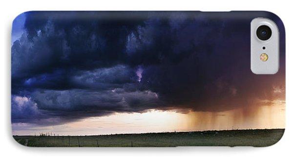 Flint Hills Storm Panorama  IPhone Case