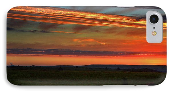 IPhone Case featuring the photograph Flint Hills Sunrise by Thomas Bomstad