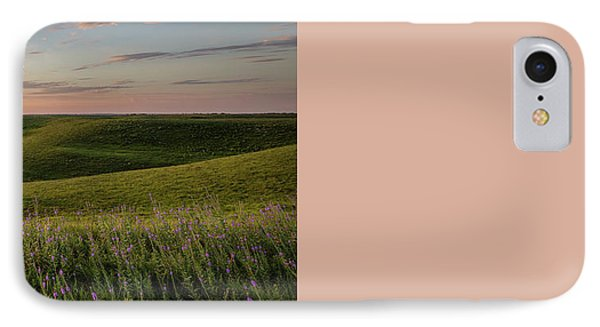 Flint Hills Sunset Pano IPhone Case by Scott Bean