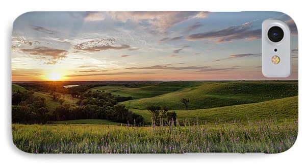 Flint Hills Sunset IPhone Case by Scott Bean