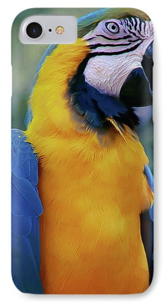Flirtacious Macaw Phone Case by DigiArt Diaries by Vicky B Fuller