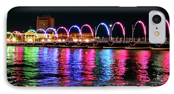 IPhone Case featuring the photograph Floating Bridge, Willemstad, Curacao by Kurt Van Wagner