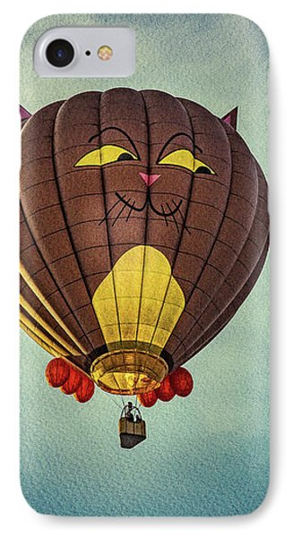 Floating Cat - Hot Air Balloon Phone Case by Bob Orsillo