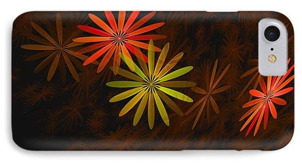 Floating Floral-008 Phone Case by David Lane