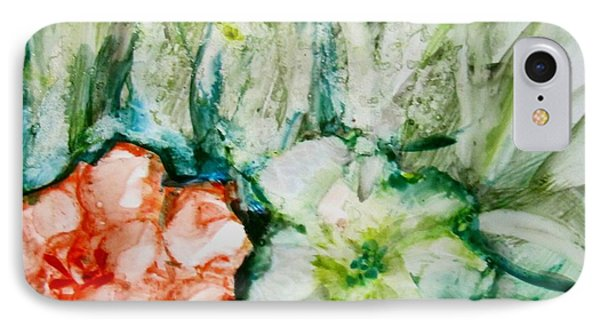 Floating Flowers 3 IPhone Case by Laurie Morgan