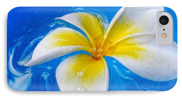 Floating Frangipani - Plumeria Alba Phone Case by Kaye Menner